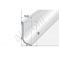 Плинтус алюминиевый Q63